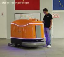 Fully automated floor scrubber