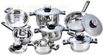 Home use 12pcs stainless steel cookware set