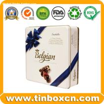 Square Chocolate Tin for Food Tin Box Packaging, Chocolate Can