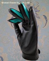 Fashion men and ladies sheepskin leather driving sport gloves