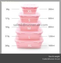 New Design Collapsible Silicone Food Container Set