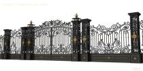 Beautiful swing wrought iron main gate designs with luxury post