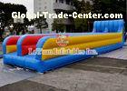Customized Inflatable Sport Games , Mixing Color Inflatable Double Slide