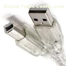 USB 2.0 Cable USB 2.0 A to B transparent