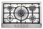 Kitchen 5 Burner Gas And Electric Stove , 5 Ring Gas Hob Stainless Steel