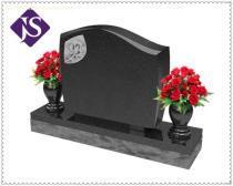 Factory Price Cheap Double Tombstones/Monuments with Tree and Vase