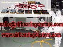 Cleanroom machinery mover air casters details