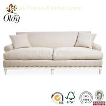White Wooden French Sofa Couch