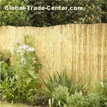 Natural peeled garden reed fence fencing without skin woven with plastic-coated wire