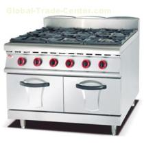 Gas Range With 6 Burner With Cabinet 900