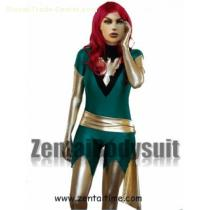 X-men Jean Grey Deep Green Phoenix Costume