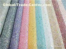New Arrival Luminous Glitter PU synthetic Leather Fabric