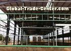 Large Span Warehouse Steel Frame , Steel Structure Workshop Stable Structure