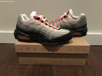 Nike AIR MAX 95 Solar Red Infrared neon grey jordan 90 1 lunar flyknit