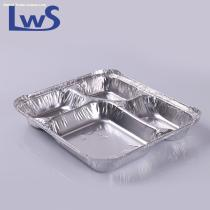 compartment aluminum foil container disposable food tray