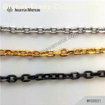 Leather DIY copper chains  slanting single shoulder bag chain high quality copper chain MAYA hardware