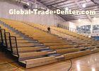 Manual Control Indoor Stadium Seating Systems Timber Bench Natural Appearance