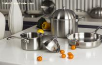 Stockpot with three-layer composite cookware(Titanium+SS+Copper)