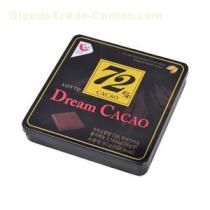 Chocolate Packing Tin Box With Embossed Logo