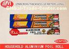 Food Grade Household Aluminium Foil Paper 30cm X 15 Micron X 10m Size For Party Dinner