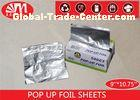 Piece Shape Aluminium Pop Up Foil Sheets 9 Inch  X 10.75 Inch Non Stick Easy For Use
