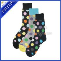 Dots Mens Socks for men use 75% Cotton 20%polyester,5%spanex