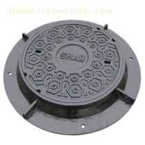 Municipal Construction Watertight Grey Cast Iron Casting Manhole Cover With Square Round Shape