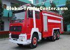 12000L Fire Fighting Vehicle , 6 Seats Fire Service Truck High Visibility Multitasking
