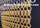 10mm  24mm Metal Chain Link Curtains Golden String For Wall Coverings