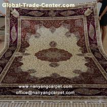8.5'x11.48' Handwoven Oriental Persian Silk Carpet