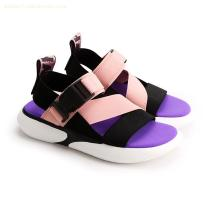 FASHION COLOR MATCHING RIBBON SANDALS