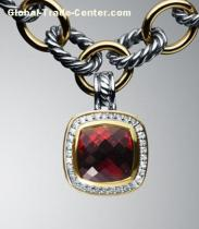 David Yurman Fashion Jewelry 11mm Garnet Albion Enhancer