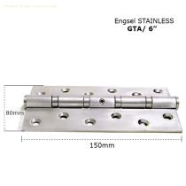 "More safely Standard hinge GTA 6"" x 3"" x 3mm 4BB SS hinge with holes"