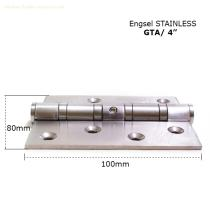 "More safely Standard hinge GTA 4"" x 3"" x 3mm 4BB SS hinge with holes"