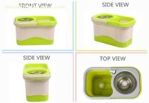 KXY-FT Double color spin mop 360,360 Spin Mop,Deluxe 360 Spin Mop,360 Spin Mop With Folding Bucket Factory
