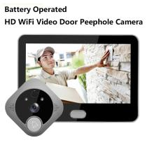 Motion Detection Alarm for IOS / Android wifi door viewer peephole doorbell phone wireless intercom the source