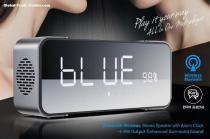 Portable Dual Wireless Loudspeaker Stereo Sounds Bluetooth Speaker With FM TF Radio Alarm Clock