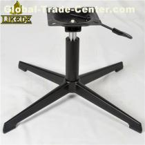 Black 4 feet aluminum sofa base chair frame leg swivel chair base