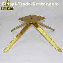 New brushed titanium gold stainless steel chair base sofa base chair frame leg