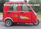 Red Blue Gasoline Tricycle 150CC 200CC 250CC engine closed cabin taxi motorcycle