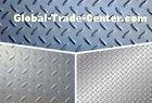 ASTM Steel Checker Plate Sheet , Gr65 Tear Drop Patten Galvanized Checker Plate