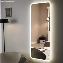 full length dressing mirror with light illuminated LED living room mirror for home use