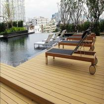 Red Brown Outdoor WPC Solid Decking