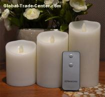 Luminara Remote Control Moving Flame LED Pillar Candle