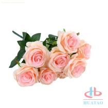 Artificial flower rose for weeding decoration