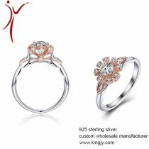 Custom 925 sterling silver jewelry plating with rhodium ,yellow gold ,rose gold