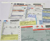 Customized DHL Express Logistic Waybill with barcode