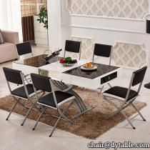Modern furniture price high dining table and chiars stainless steel
