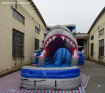Click this to view the '5006317- Inflatable Amusement Park Large Adult Inflatable Shark Water Slides for Kids' of the large image 2.