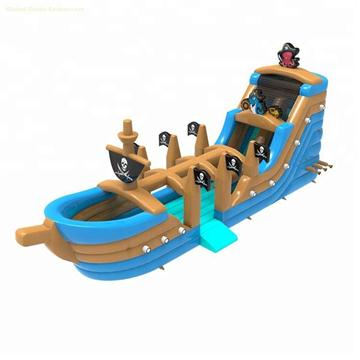 5006294-Kids Pirate Ship Inflatable Wet & Dry Slide for Sale